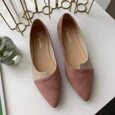 Flat Shoes Women Sweet Flats Shallow Women Boat Shoes Slip On Ladies Loafers Spring Women Flats Pink