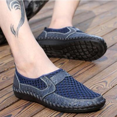 Men's Large Size Casual Hollow-out Flat Shoes