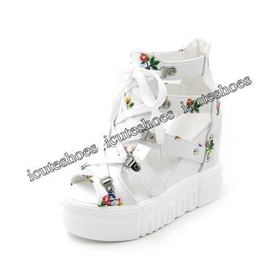 Wedges Shoes For Women Sandals High Heels Summer Shoes Platform Sandals white shoes