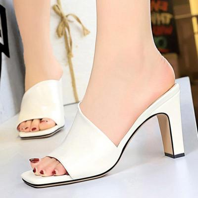 Summer Chunky Heel Casual Slippers