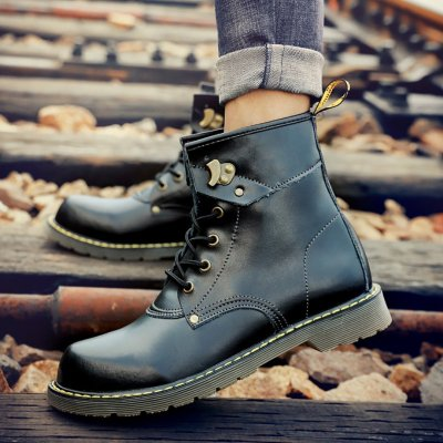 British Hundred Men's Suede Workers Wear Snow Boots