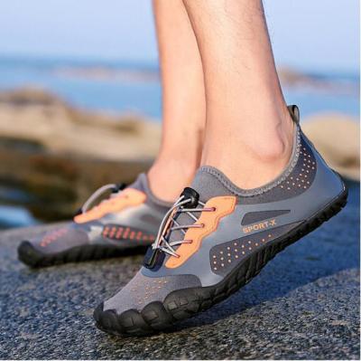 Color Block Flat Elastic Round Toe Outdoor Run Sneakers