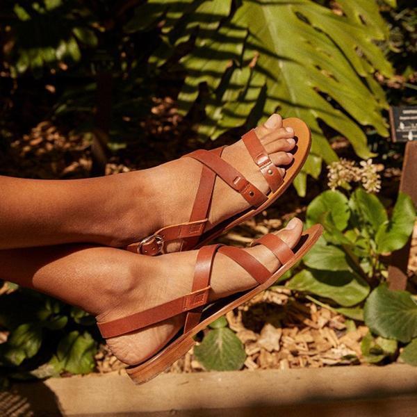 Summer Flat Open Toe Buckle Flat Sandals