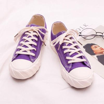 Candy Color Canvas Flats Lace-up Sneaker Loafers