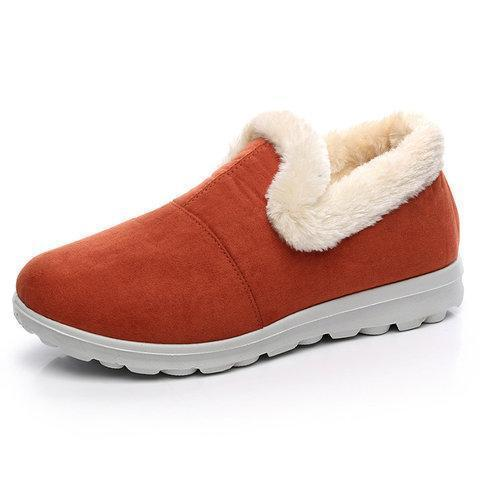 Women Casual Warm Snow Loafers Boots Slip On Shoes