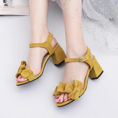 Fashion Sandals Women 2020 Summer New Open Toe High Heels Buckle with Thick Heel Women's Shoes