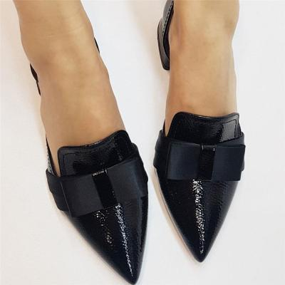 Women's Simple Bow Pointed Flat   Shoes