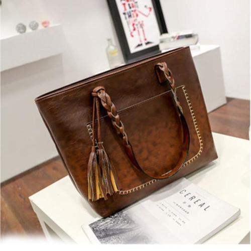 Large-Capacity Tassel Handbag Crossbody Bag