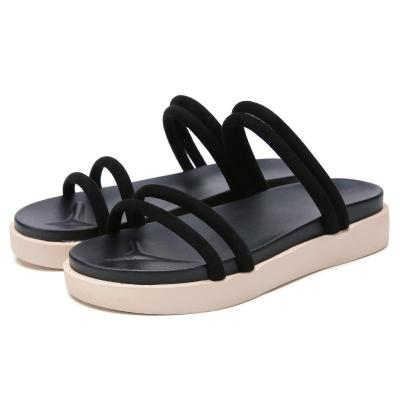 sandals black flat Sandals women flat Sandalias slippers ladies flat low heel