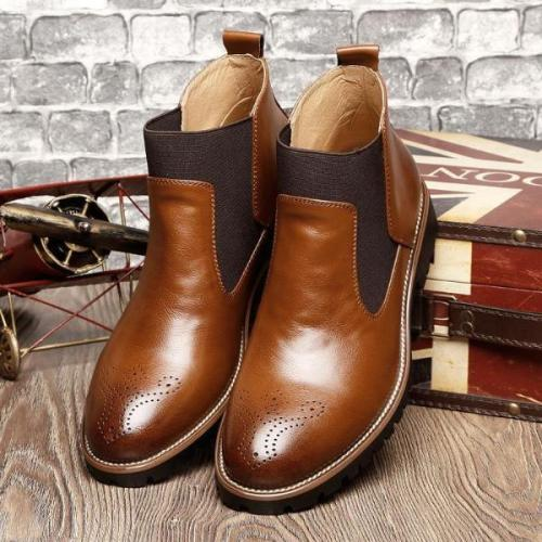 Casual Embossing Martin boots   tooling short boots