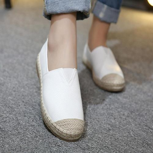 Large Size Women Glitter Loafers Summer Slip-on Flats Fisherman Shoes