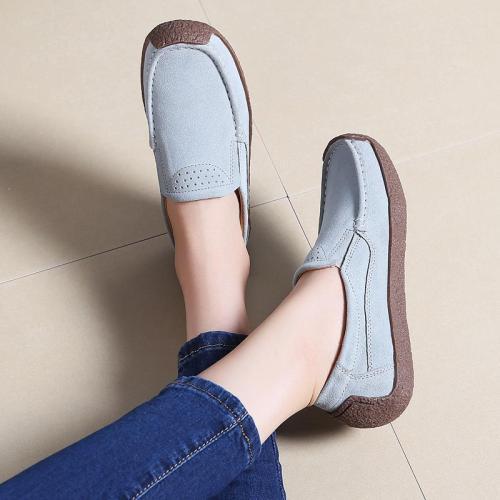 Women Faux Suede Non-slip Slip on Flat Shoes
