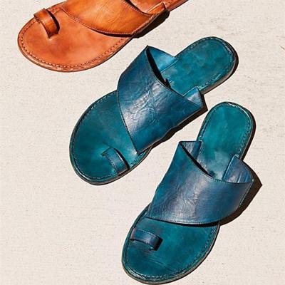 New Hollow Set Toe Slippers Flat Sandals