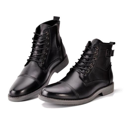 Men's Lace Belt Buckle Martin Men Boots