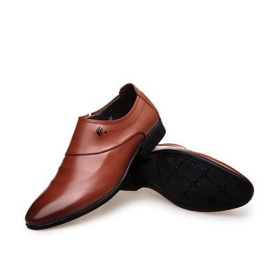 British business dress men's pointed leather shoes