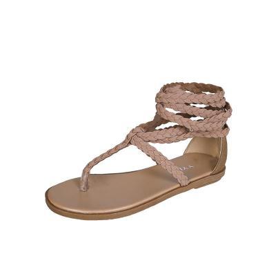 Summer New Big Size Beach Sandals Round Flat Bottom Fashion Women's Shoes