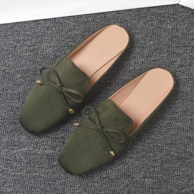 Spring and Autumn New Mueller Slippers Women Cozy Wear Sandals Flat Shoes