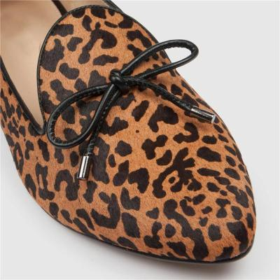 Spring new round leopard shoes