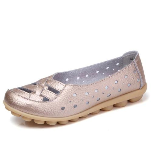 Women Fashion New Hollow Out Flats Shoes Slip-on Comfort soft Lazy Shoes