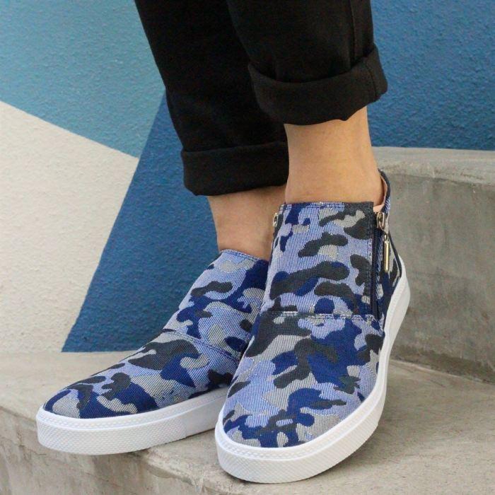 Camouflage Print Slip-On Fashion Casual Flats