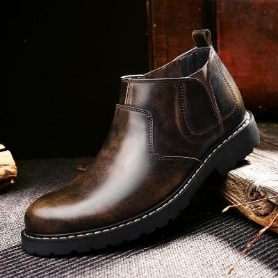 Casual Restoring Ancient Round   Head Martin Boots Tooling Boots