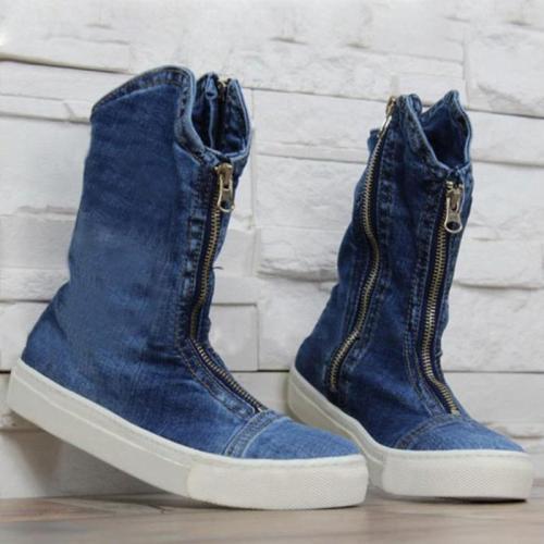 Comfy Zipper Canvas Boots Shoes
