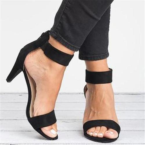Ankle Strap Stiletto Heels Sandals