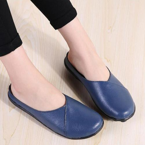 Women's Slip-On Leather Slippers
