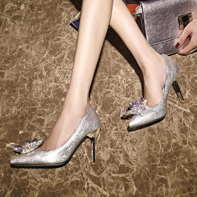 Sliver Elegant Date Evening Heels