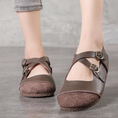Handmade Vintage Comfy Flat Leather Shoes