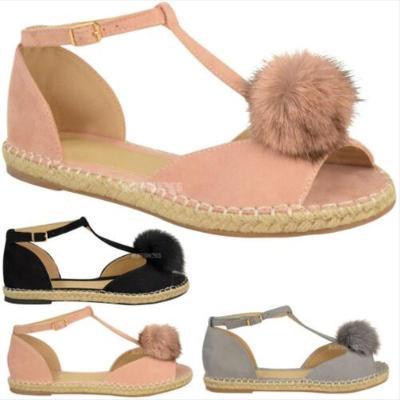 Adjustable Buckle Holiday Flat Heel Sandals