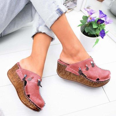Women Casual Stylish Close Toe Wedge Sandals