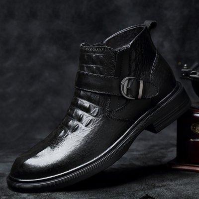 Men's top layer cowhide high gang Martin boots