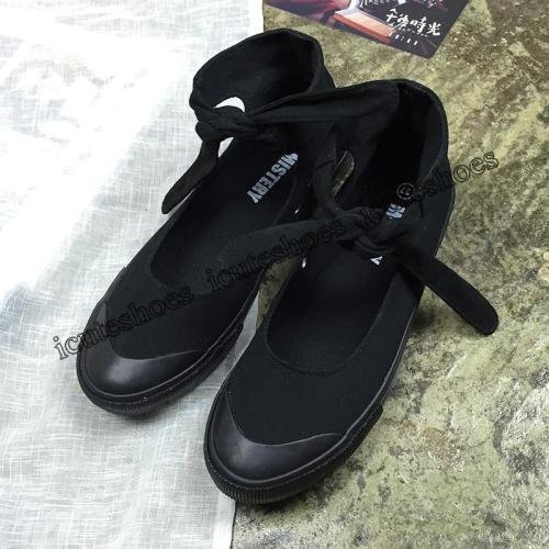 New Black Canvas Shoes Women Fashion Shoes