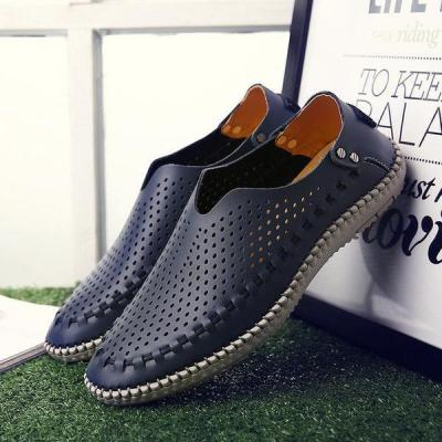 Mens Summer Breathable Hollow Out Moccasins Casual Flats