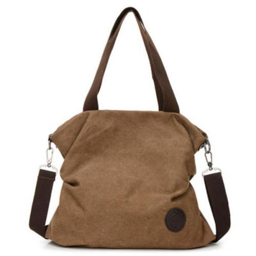 Casual Canvas Large Capacity Handbag Outdoor Shoulder Bag