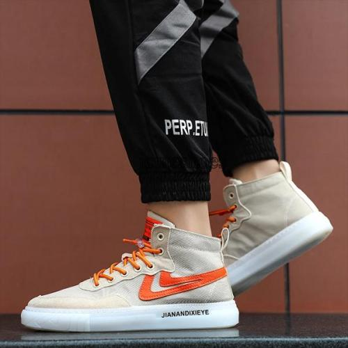 Men's Shoes High Canvas Shoes New Korean Fashion Men's Casual Shoes