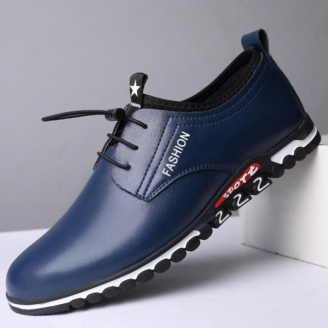 Men's Casual Shoes Elastic Band Heighten Shoes