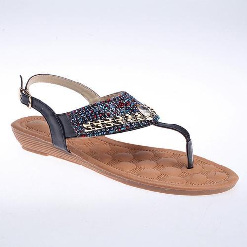 Bohemian  Flat  Peep Toe  Date Outdoor Flat Sandals