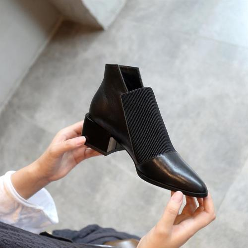Fashion Women Ankle boots Genuine Leather Sexy Ladies Work Boots Casual shoes