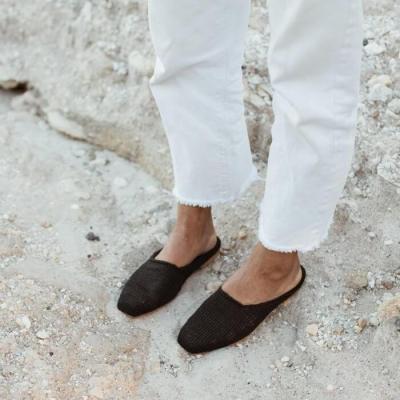 Women's Woven Square Flat Shoes