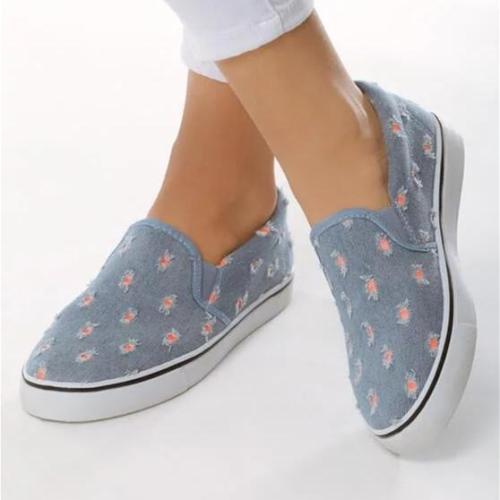 Women All Season Slip-On Waterproof Cloth Sneakers