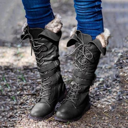 Women Stylish Low-heel Knee-Height Boots