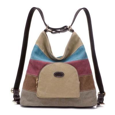 Casual Canvas Colorful Handbag Shoulder Bag Backpack