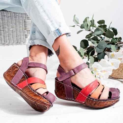 Roman Style Wedge Heel Sandals