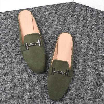 Spring and Autumn Flat Slippers Women Cozy Wear No Heel Large Size