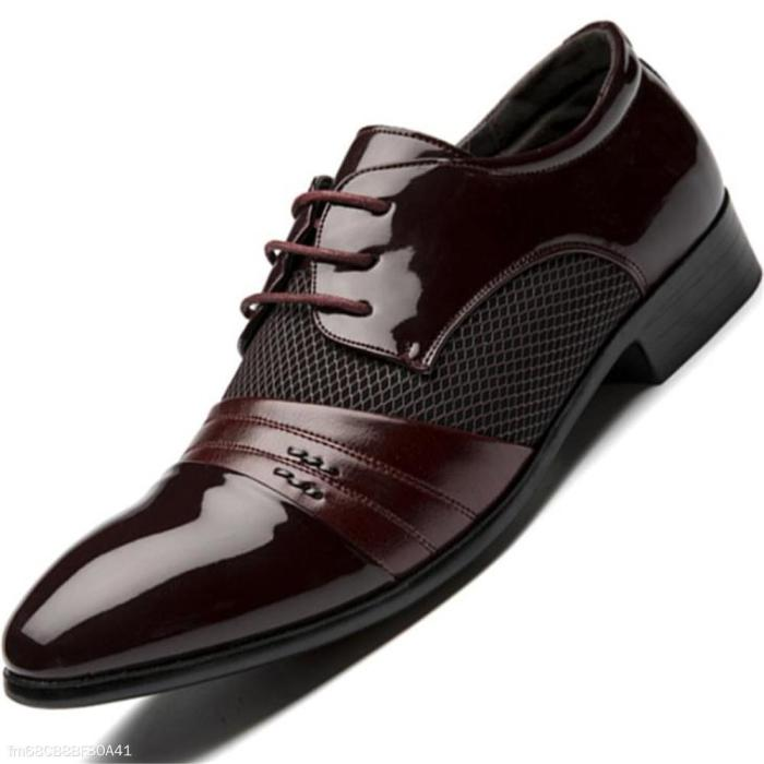 Fashion Business Plain Leather Men Shoes