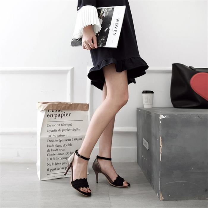 Women Sandals Mixed Fashion Shoes Simple Buckle Summer Sexy Thin High Heels