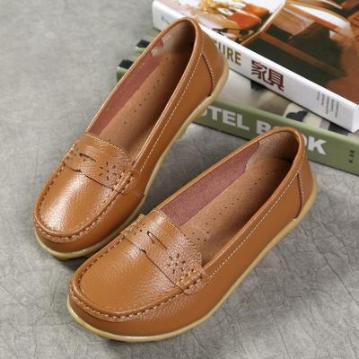 Comfy Sole Artificial Leather Breathable Slip on Soft Flat Loafers
