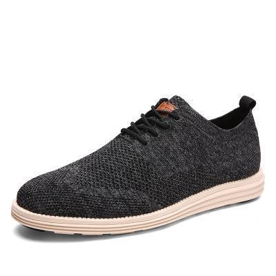 Mens Lace-up Non-Slip Breathable Flat Shoes
